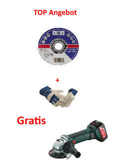 TOP Angebot Gratis Metabo Akku-Winkelschleifer W 18 LTX 125 Quick *