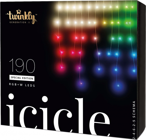 TWINKLY Icicle Led Lichterkette 190